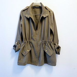 Zara Military Green Utility Jacket Size S